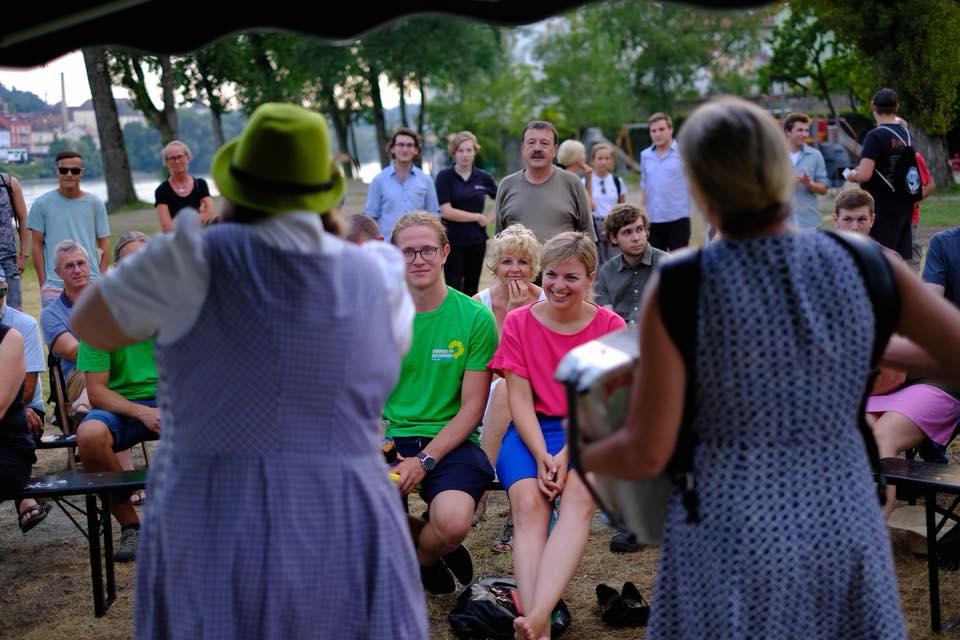 August: Wahlkampfauftakt der Grünen in Passau