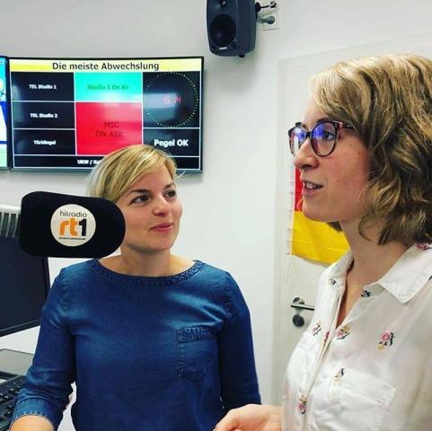 Juni: Radio-Interview in Schwaben mit Grüne Jugend Spitzenkandidatin Eva Lettenbauer
