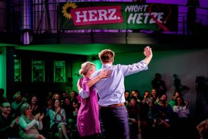Auf dem grünen Kleinen Parteitag mit Ludwig Hartmann.