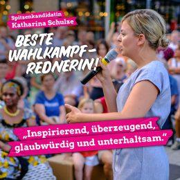 Zur besten Rednerin im Landtagswahlkampf gekürt