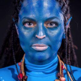 Als Avatar Neytiri bei Fastnacht in Franken