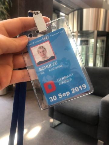 Mein Zugangspass zum UN-Gebäude